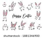 Cartoon Doodle Happy Easter...