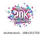20000 followers. poster for... | Shutterstock .eps vector #1881351703