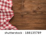 Tablecloth Textile On Wooden...