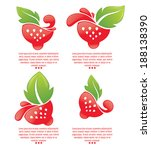 vector strawberry symbols   Shutterstock .eps vector #188138390