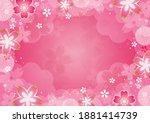 japanese pattern background...   Shutterstock .eps vector #1881414739