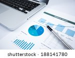 businessman analyzing... | Shutterstock . vector #188141780