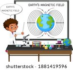 young scientist explaining...   Shutterstock .eps vector #1881419596