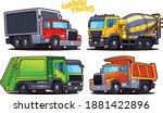 cartoon trucks isolated on...   Shutterstock .eps vector #1881422896