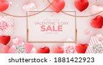 valentine's day sale banner... | Shutterstock .eps vector #1881422923