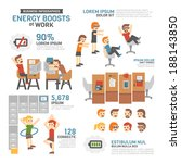 energy boosts at work... | Shutterstock .eps vector #188143850