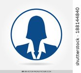 blue businesswoman icon in... | Shutterstock .eps vector #188144840