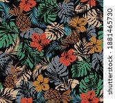 seamless pattern of beautiful...   Shutterstock .eps vector #1881465730