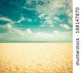 sunshine on empty beach  ... | Shutterstock . vector #188147870
