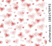 beautiful cute seamless pattern ... | Shutterstock .eps vector #1881478993