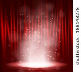 smoke on the stage with red... | Shutterstock .eps vector #188148278