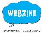 webzine text written on a blue...   Shutterstock . vector #1881508549