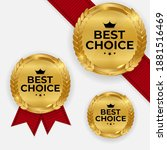 premium quality gold medal... | Shutterstock .eps vector #1881516469