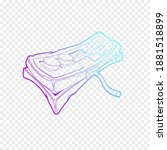 classic retro gempad icon. old...   Shutterstock .eps vector #1881518899