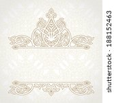 vector lace card in east style... | Shutterstock .eps vector #188152463