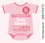 baby clothes baby girl shower... | Shutterstock .eps vector #188152673
