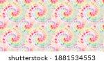 tie dye spiral. trendy spiral... | Shutterstock . vector #1881534553