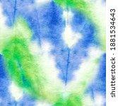 tie dye pattern. aquarelle... | Shutterstock . vector #1881534643