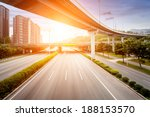 highway and viaduct under the... | Shutterstock . vector #188153570