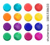 set of colorful buttons for...