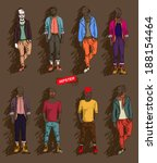 man in fashion clothes isolated ... | Shutterstock .eps vector #188154464