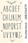 hand drawn sketch alphabet.... | Shutterstock .eps vector #188154479