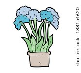 cartoon flowers in pot | Shutterstock . vector #188154620