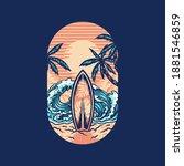 surfing summer beach t shirt... | Shutterstock .eps vector #1881546859