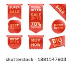 vector labels isolated on white ... | Shutterstock .eps vector #1881547603