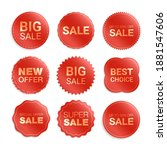 vector labels isolated on white ... | Shutterstock .eps vector #1881547606