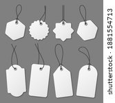 realistic white price tags... | Shutterstock .eps vector #1881554713