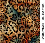 Abstract Colorful  Leopard...
