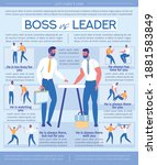boss is leader  bad and good... | Shutterstock .eps vector #1881583849