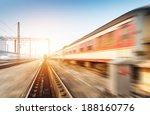 fast moving train  | Shutterstock . vector #188160776