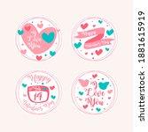 flat valentine's day labels...