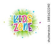 kids title event vector icon... | Shutterstock .eps vector #1881622240