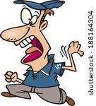 cartoon umpire making a call   Shutterstock .eps vector #188164304