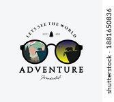 eyeglasses outdoor adventure... | Shutterstock .eps vector #1881650836