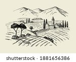 vector vintage hand drawn... | Shutterstock .eps vector #1881656386