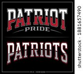 collection of two patriot... | Shutterstock .eps vector #1881657490