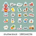 toys icon vector | Shutterstock .eps vector #188166236