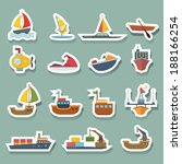 boats and ships icons set | Shutterstock .eps vector #188166254