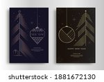 happy new year greeting card... | Shutterstock .eps vector #1881672130