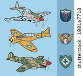 Vintage Fighter Planes Set 1