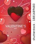 valentine's day design. ... | Shutterstock .eps vector #1881689683