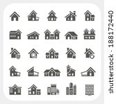houses icons set | Shutterstock .eps vector #188172440