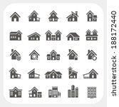 houses icons set | Shutterstock .eps vector #188172440