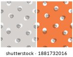 seamless hand drawn vector... | Shutterstock .eps vector #1881732016