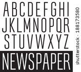 Vector font. Slim condensed type. Elegant thin typeface