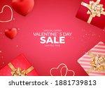 valentine's day background... | Shutterstock .eps vector #1881739813